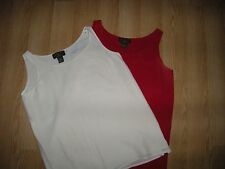 Silk lined sleeveless women tops