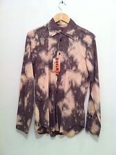 Replay Long Sleeve Shirt in Brown Size M