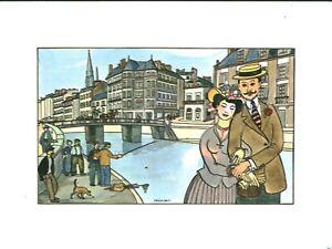 Fac-similé d'aquarelle de J. Bruneau Nantes du bon vieux temps planche no 24