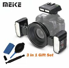 Meike Macro Twin Lite Flash Light & trigger FOR All Nikon Cameras + cleaning Kit