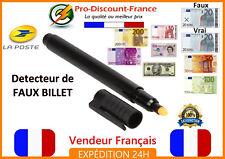 Stylo feutre détecteur FAUX BILLET fausse monnaie EURO USD LIVRE billets euros