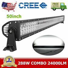 50inch 288W CREE LED Work Light Bar Straight Truck Offroad SUV Boat Driving Jeep