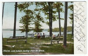 Maine, Lake Auburn looking from the Grove