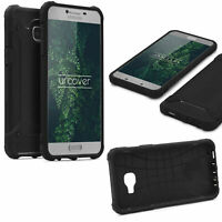 Samsung Galaxy C7 OUTDOOR Schutz Hülle TOP Cover Back Case Carbon Optik Etui