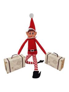 2x Elf Suitcase Travel GAMES ACCESSORIES Props Ideas Joke Christmas Decoration