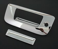 2007-2013 Chevy Silverado Chrome Tailgate Handle Cover+keyhole+no camera