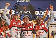 Lotterer, Treluyer, Fässler Audi Joest Hand Signed Photo 12x8 Le Mans 1.
