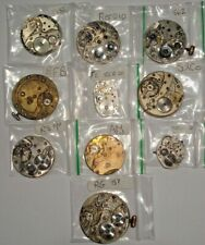 10 Watch Movements Job Lot ideal for Watchmakers Steampunk Jewellery Altered Art