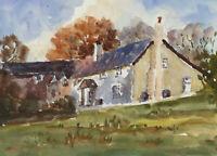John A. Case - Set of Four Contemporary Watercolours, Studies of Cottages