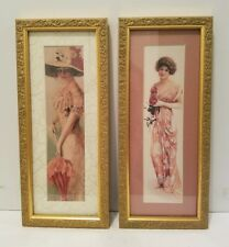 Picture Frame Victorian Art Prints Set of 2