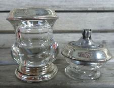 Vtg Set American Sterling Silver Glass Cigarette Holder & Lighter Frank Whiting