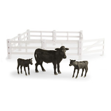 1/16th Big Farm Cow & Calf Animal Set with Fence