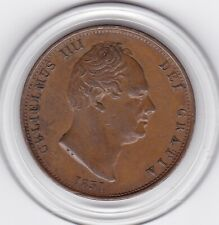 Very   Sharp   1831   King  William  IV   Half   Penny  Copper  Coin