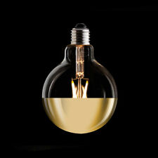 Vintage Retro ECO LED Carbon Filament G95 GOLD MIRROR DIPPED Globe Light Bulb ES