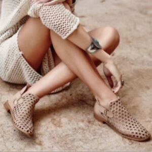 Anthropologie Burnished Laser Cut Caila Bootie from Musse + Cloud, 9