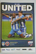 Football Programme. Colchester United v Sheffield United. 16.01.2016. VGC.