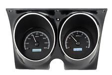 Dakota Digital 68 Chevy Camaro Analog Dash Console Gauge Black White VHX-68C-CAC