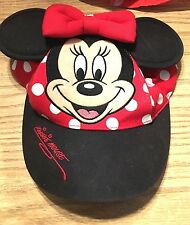 Toddler Girls Walt Disney World Minnie Mouse Hat Baseball Cap Ears Euc