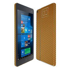 Skinomi Gold Carbon Fiber Skin & Screen Protector HP Envy 8 Note Tablet Only