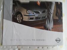 Nissan Almera Tino brochure c2001