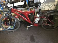 Pro rider E Voyager electric mountain bike - red