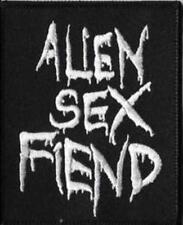 Alien Sex Fiend - Logo Aufnäher Patch First Batcave Post Punk Gothic Kult Wave