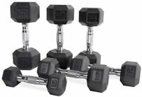 New 15LB–40LB CAP Barbell Coated Hex Rubber Dumbbell Weight Equipment [SINGLE]