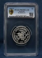 1993 AUSTRALIA KOOKABURRA  2 OZ. PROOF PCGS PR69 - **RARE**
