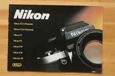 NIKON: brochure 8 pages en français.. RARE, COLLECTION.