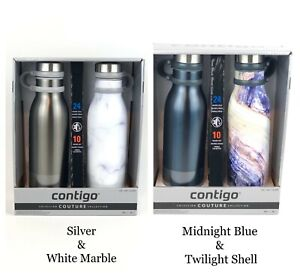 NEW Contigo Couture Stainless Steel THERMALOCK Water Bottles 20 Oz (2 Bottles)