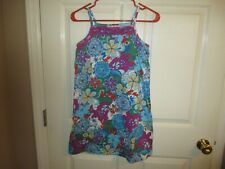 Hanna Andersson Girls Size 140 Colorful Floral Summer Dress EC