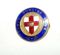 VINTAGE ENAMEL COWES BOWLING CLUB BROOCH / BADGE / PIN