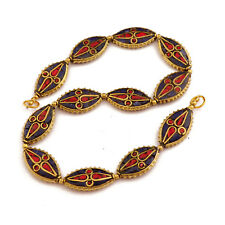 Lapis Coral Brass 12 Beads Tibetan Nepalese Handmade Tibet Nepal UB2517