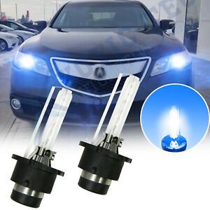 2x Blue D2S D2R HID Xenon Headlight Bulbs For Acura TL TSX RDX MDX NSX ZDX CL RL