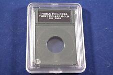 Premier Slab Coin Holder 3 Three Dollar Gold Coin w/Labels New Design!