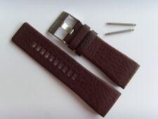 DIESEL Original Ersatzband Lederarmband DZ7327 Uhrband braun 30 mm watch strap
