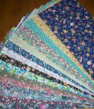 16 Country Floral Calico Fat Quarter Fabric Bundle 100% Cotton