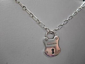 Tiffany &Co Large Padlock Arc Lock Vintage Pendant 4 Necklace Bracelet Silver