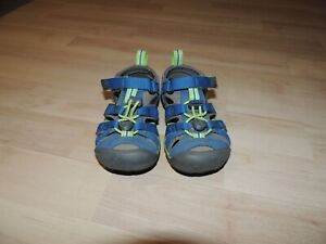 KEEN SEACAMP II CNX Kinder Sandale - Größe 24, Grau/Blau/Grün