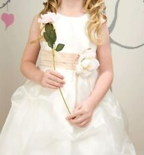 CLOSEOUT FLOWER GIRLS WEDDING PAGEANT IVORY  DRESS SIZE 2 SIZE 4