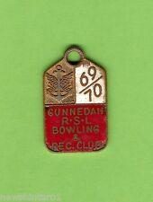 #D70. Gunnedah Rsl Bowling Club Member Badge 1969/70 #1152