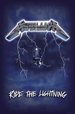 Metallica Poster Ride The Lightning Album Official Textile Flag 104 X 65cm