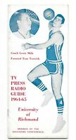 1964-65 University of Richmond Spiders NCAA Basketball Media Guide Lewis Mills