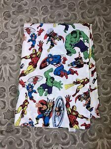 Pottery Barn Kids Marvel Comics Twin Flat Sheet Hulk Captain America Avengers