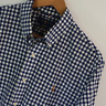 Mens Polo Ralph Lauren Blue White Gingham Slim Fit Long Sleeve Shirt L Large