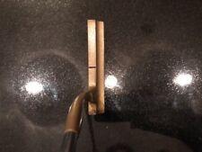 "Vintage Acushnet Straight-In Putter w/ Pistol Leather Grip 35"""