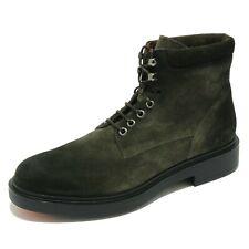 5252AB anfibio uomo SANTONI suede green shaded boot shoe men