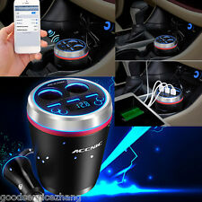 Bluetooth Car Handsfree FM Transmitter MP3 Radio TF 3 USB Charger For Kia Volvo