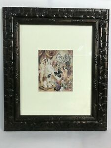 Norman Lindsay - Gifting The Bride To Be - Erotic Scene Watercolour Print Framed
