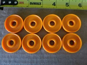 Plastic Tinker Toys Parts Lot: 8 WASHERS Orange Tinkertoy Replacement Pieces